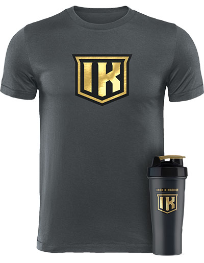 IRON KINGDOM GOLD T-SHIRT + SHAKER